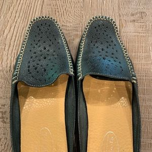 Talbots leather mules